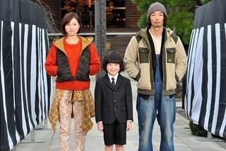 「稲垣家の喪主」に出演する(左から)広末涼子、金成祐里くん、森山未來「ヒロイン失格」