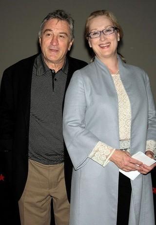 長年の友人同士のデ・ニーロ(左)とメリル