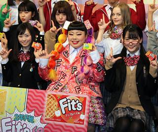 福原遥(前列左)は渡辺直美の大ファン
