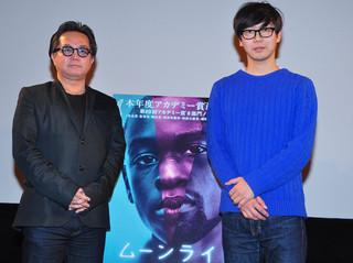 (左から)松崎健夫氏と中井圭氏「ムーンライト」