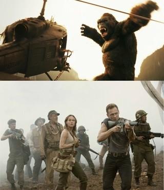 コングが巨大タコと戦うシーンも「キングコング 髑髏島の巨神」