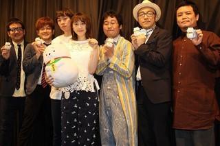 「バッチコーイ!」と気合を入れた 松井松井玲奈ら「笑う招き猫」