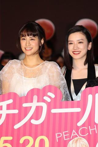「ピーチガール」で共演する山本美月と永野芽郁「ピーチガール」