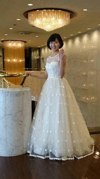 人生初のウエディングドレス!「NANA」