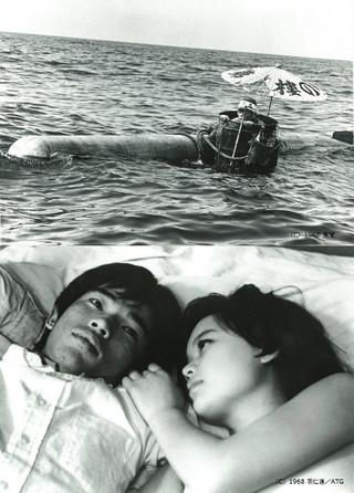 「肉弾」(上)、「初恋・地獄篇」 (下)場面画像「肉弾(1968)」