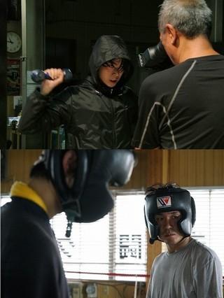 ボクシングに挑戦した菅田将暉(上) とヤン・イクチュン「二重生活」