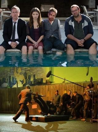仲よく全員集合(写真上)、 俳優自身がスタント挑戦(写真下)「クロニクル」