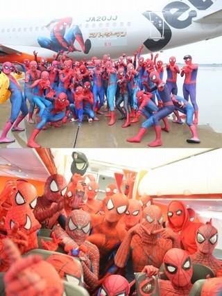 「バイきんぐ」の2人も参加「スパイダーマン ホームカミング」