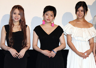 左から鈴木涼美さん、冨手麻妙、柴田千紘「身体を売ったらサヨウナラ」