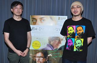 (左から)高橋諭治氏、森直人氏「君はひとりじゃない」