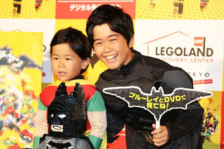 鈴木福と弟の楽くん「レゴバットマン ザ・ムービー」