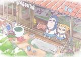 2人の後ろの看板に注目!TVアニメ「ポプテピピック」キービジュアル公開