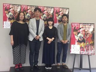(左から)荒木啓子ディレクター、 李相日監督、山戸結希監督、小田学監督「仁義なき戦い」
