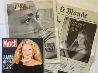 ジャンヌ・モローさんを追悼した仏メディア「死刑台のエレベーター」