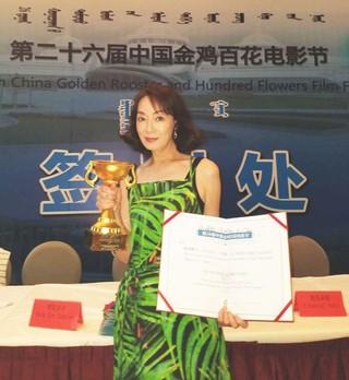 「カノン」で助演女優賞を受賞した島田陽子「カノン」