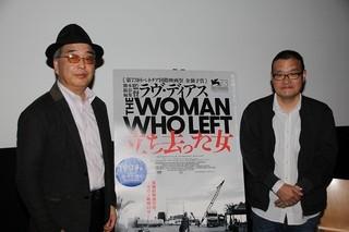 中田秀夫監督と石坂健治氏「立ち去った女」