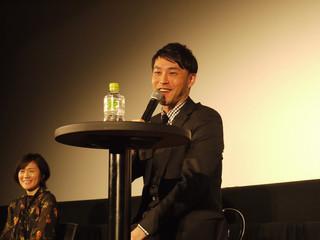 ティーチインに臨んだ西田征史監督「泥棒役者」