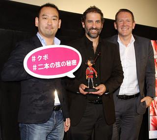 (左から)後藤太郎、ブラッド・シフ、ブラッド・バルド「KUBO クボ 二本の弦の秘密」
