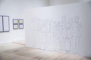 国立新美術館での展示の様子「君の名は。」
