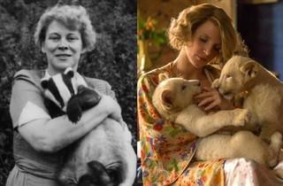 アントニーナ本人(写真左)「ユダヤ人を救った動物園 アントニーナが愛した命」