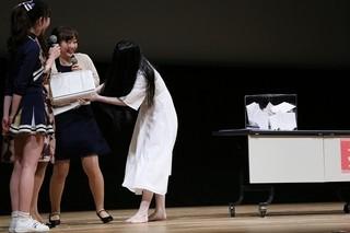 式典を盛り上げた貞子「リング」