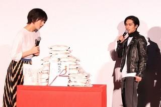 富山県産の米80キロがプレゼントされた