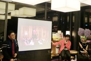 精神科医の名越康文氏、東京国立近代美術館研究員の保坂健二朗氏、美術家・ドラァグクイーンのヴィヴィアン佐藤氏(左から)