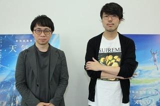 新海誠監督(左)と企画・プロデュースの川村元気氏