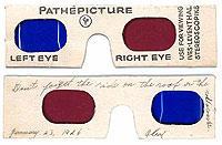 1926年当時のアナグリフ方式の眼鏡