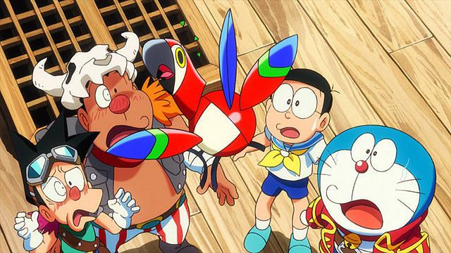 みんな焦っている!ドラえもん 宝島のかっこいい画像です。