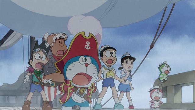 どうしたのかな?驚いているドラえもん 宝島のカッコイイ画像です。