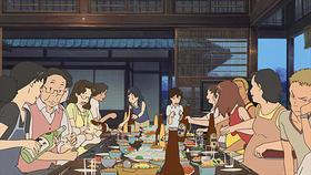 お盆に家族、親戚が集まる日本の懐かしい風景