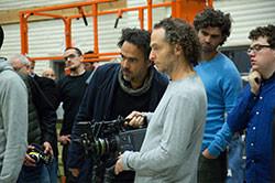 撮影中のイニャリトゥ監督とルベツキ