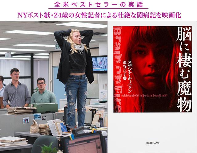 原作(右)の作者キャハランが体験したこと──オフィスの机上で叫ぶ奇行も忠実に再現