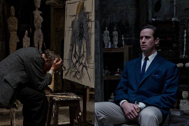 画家とモデルという関係を通し、ラッシュとハマーが静かなる演技バトルを繰り広げる
