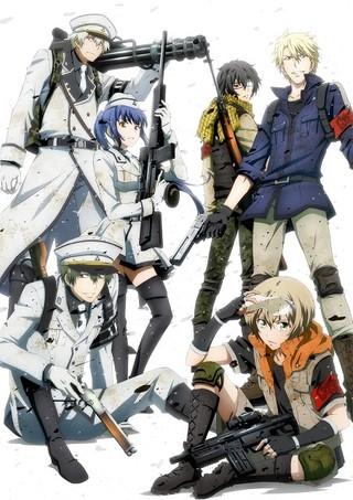 アニメ「青春×機関銃」キービジュアル