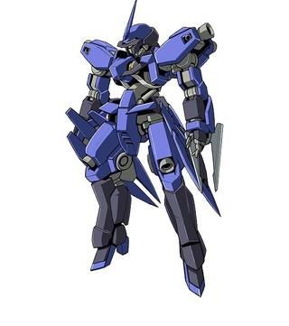 シュヴァルベ・グレイズ(マクギリス機):グレイズの試作機を改修し、高機動化させたカスタム機。肩や腰にブースターを追加している。