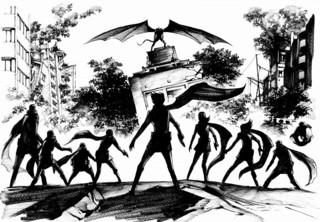 コミック「サイボーグ 009VS デビルマン」イメージイラスト
