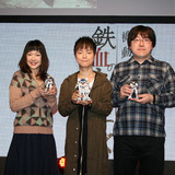 左から寺崎裕香、河西健吾、鷲尾直広