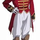 フル・フロンタル(CV:池田秀一) 「袖付き」と仇名されるネオ・ジオン残党軍を率いる人物。「シャアの再来」と呼ばれ、自ら専用機である真紅のモビルスーツ、シナンジュを駆る。仮面の男。
