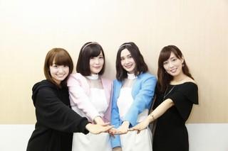 先行上映会に登壇した 大橋彩香、高橋未奈美、M・A・O、日笠陽子(左より)
