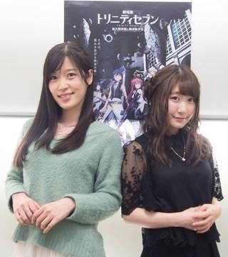 リリス役の原(左)とリリム役の日高