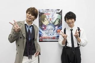 凱旋上映会に登壇した宮野真守(左)、上村祐翔