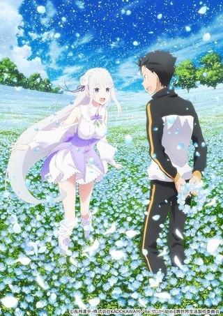 雪のように花びらが舞う「Re:ゼロ」新作OVAキービジュアル第2弾公開