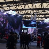 同じく中国イベントの、「アズールレーン」ブースの風景。