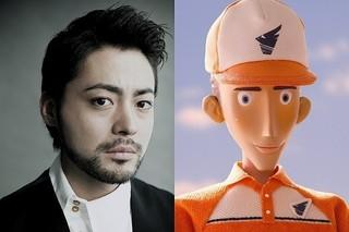 山田孝之が、さわやかな笑顔の配達員役で出演
