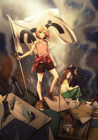 「劇場版 SHIROBAKO」20年春に公開決定 ムサニの旗をかかげる宮森を描いた新ビジュアルも披露