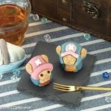 「ONE PIECE」チョッパーの和菓子発売 ピンク帽子のさくら味、ブルー帽子のチョコ味の2種