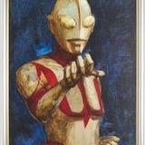 成田亨さんが描いた油彩画「真実と正義と美の化身」