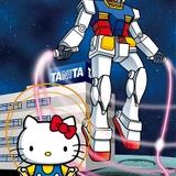 アムロ、シャア、ハローキティのオリジナル音声を収録した「ガンダム×キティ」体組成計3種発売
